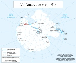 L'Antarctique en 1914. Source : http://data.abuledu.org/URI/5309ba4b-l-antarctique-en-1914
