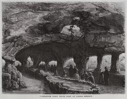 L'aquarium d'eau douce dans le jardin réservé en 1867. Source : http://data.abuledu.org/URI/58704969-l-aquarium-d-eau-douce-dans-le-jardin-reserve-en-1867