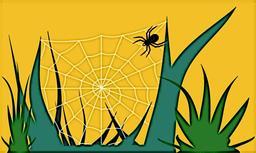 L'araignée et sa toile. Source : http://data.abuledu.org/URI/538b6d81-l-araignee-et-sa-toile