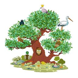 L'arbre aux huit oiseaux. Source : http://data.abuledu.org/URI/5629da18-l-arbre-aux-huit-oiseaux