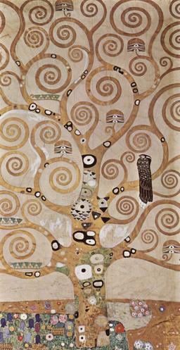 L'arbre de vie de Klimt. Source : http://data.abuledu.org/URI/53e7f01c-l-arbre-de-vie-de-klimt