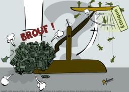 L'argent dans la balance. Source : http://data.abuledu.org/URI/548c192e-l-argent-dans-la-balance