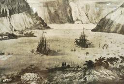 L'astrolabe et la Boussole en Alaska en 1786. Source : http://data.abuledu.org/URI/596e365e-l-astrolabe-et-la-boussole-en-alaska-en-1786