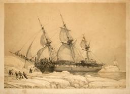 L' Astrolabe prise par les glaces en 1838. Source : http://data.abuledu.org/URI/59804353-l-astrolabe-prise-par-les-glaces-en-1838