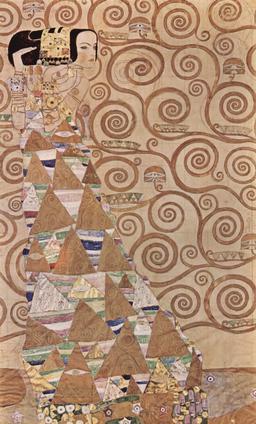 L'attente de Gustav Klimt. Source : http://data.abuledu.org/URI/53e7f110-l-attente-de-gustav-klimt