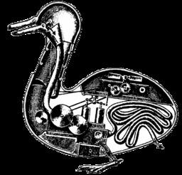 L'automate du canard de Vaucanson. Source : http://data.abuledu.org/URI/50ec98d4-l-automate-du-canard-de-vaucanson