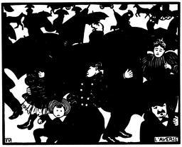 L'averse dans une rue de Paris en 1894. Source : http://data.abuledu.org/URI/551923f8-l-averse-dans-une-rue-de-paris-en-1894