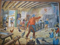 L'école d'antan à la campagne. Source : http://data.abuledu.org/URI/55be1d57-l-ecole-d-antan-a-la-campagne