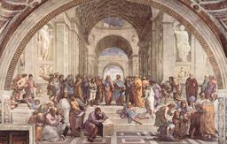 L'école d'Athènes. Source : http://data.abuledu.org/URI/505eaec0-l-ecole-d-athenes
