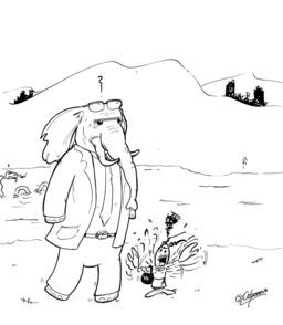 L'éléphant et l'écrevisse en Écosse. Source : http://data.abuledu.org/URI/536f43bd-l-elephant-et-l-ecrevisse-en-ecosse