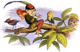L'elfe et l'oiseau. Source : http://data.abuledu.org/URI/520e839f-l-elfe-et-l-oiseau