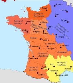 L'empire des Plantagenêt. Source : http://data.abuledu.org/URI/5078710e-l-empire-des-plantagenet