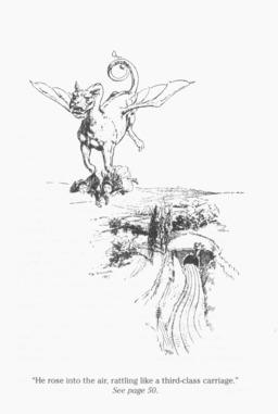 L'énorme dragon enlève les deux enfants. Source : http://data.abuledu.org/URI/52ca8f90-l-enorme-dragon-enleve-les-deux-enfants