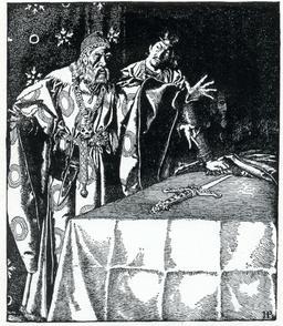L'épée Excalibur en 1903. Source : http://data.abuledu.org/URI/5950ad5c-l-epee-excalibur-en-1903