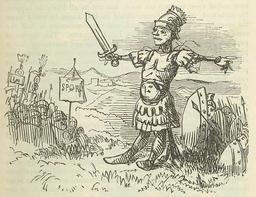 L'épouvantail romain. Source : http://data.abuledu.org/URI/53427385-l-epouvantail-romain