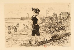 L'étoile de la plage à Trouville en 1881. Source : http://data.abuledu.org/URI/59e0eedf-l-etoile-de-la-plage-a-trouville-en-1881