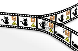L'expérience du chat de Schroedinger. Source : http://data.abuledu.org/URI/5208dd98-l-experience-du-chat-de-schroedinger
