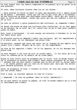 L'Habit neuf du tzar. Source : http://data.abuledu.org/URI/5143399b-l-habit-neuf-du-tzar