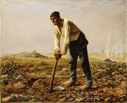 L'homme à la houe. Source : http://data.abuledu.org/URI/505e29c2-l-homme-a-la-houe