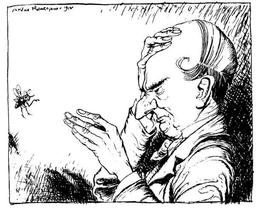 L'homme chauve et la mouche. Source : http://data.abuledu.org/URI/517d53b5-l-homme-chauve-et-la-mouche