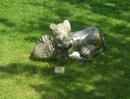L'homme et le lion. Source : http://data.abuledu.org/URI/52d2cb18-l-homme-et-le-lion