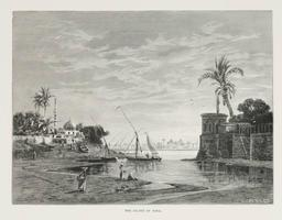 L'Île de Roda en 1878. Source : http://data.abuledu.org/URI/591e369d-l-ile-de-roda-en-1878
