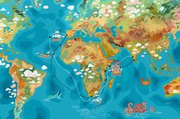 L'itinéraire de Vasco de Gama. Source : http://data.abuledu.org/URI/55a2aa15-l-itineraire-de-vasco-de-gama