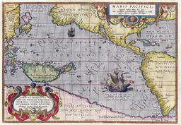 L'Océan Pacifique en 1589. Source : http://data.abuledu.org/URI/505f47fc-l-ocean-pacifique-en-1589