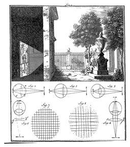 L'oeil et la vision en 1752. Source : http://data.abuledu.org/URI/585fada1-l-oeil-et-la-vision-en-1752