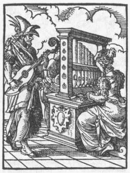 L'organiste. Source : http://data.abuledu.org/URI/47f5831e-l-organiste