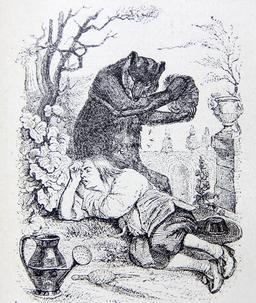 L'ours et l'amateur de jardins. Source : http://data.abuledu.org/URI/51fa02f3-l-ours-et-l-amateur-de-jardins