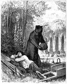L'Ours et L'Amateur des jardins. Source : http://data.abuledu.org/URI/5097a6fb-l-ours-et-l-amateur-des-jardins