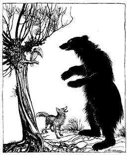 L'ours et le renard. Source : http://data.abuledu.org/URI/517d4501-l-ours-et-le-renard