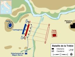 La Bataille carthaginoise de La Trébie. Source : http://data.abuledu.org/URI/50eb62c9-la-bataille-carthaginoise-de-la-trebie