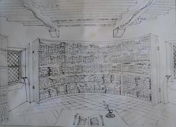 La bibliothèque de Montaigne. Source : http://data.abuledu.org/URI/53bef833-la-bibliotheque-de-montaigne