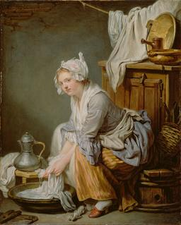 La Blanchisseuse en 1761. Source : http://data.abuledu.org/URI/5384c37f-la-blanchisseuse-en-1761