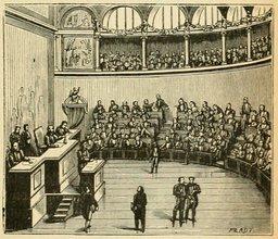 La chambre des députés au XIXème siècle. Source : http://data.abuledu.org/URI/524f1965-la-chambre-des-deputes-au-xixeme-siecle
