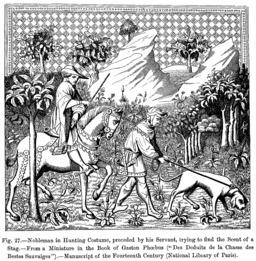 La chasse au XIVème siècle. Source : http://data.abuledu.org/URI/55414ac2-la-chasse-au-xiveme-siecle