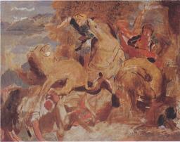 La chasse aux lions de Delacroix. Source : http://data.abuledu.org/URI/51175c25-la-chasse-aux-lions-de-delacroix