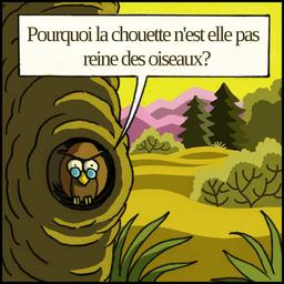 La chouette et le corbeau 01. Source : http://data.abuledu.org/URI/51b9edbb-la-chouette-et-le-corbeau-01