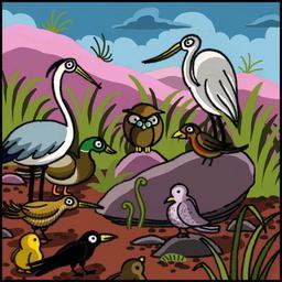 La chouette et le corbeau 04. Source : http://data.abuledu.org/URI/51b9ef80-la-chouette-et-le-corbeau-04
