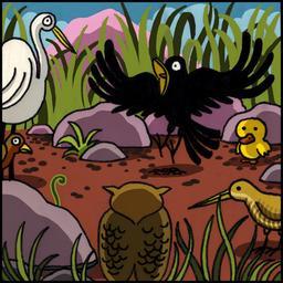 La chouette et le corbeau 06. Source : http://data.abuledu.org/URI/51b9f089-la-chouette-et-le-corbeau-06