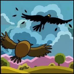 La chouette et le corbeau 07. Source : http://data.abuledu.org/URI/51b9f111-la-chouette-et-le-corbeau-07