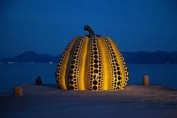La citrouille de Naoshima. Source : http://data.abuledu.org/URI/587bae6d-la-citrouille-de-naoshima