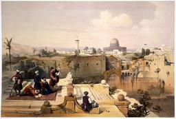 La Coupole du Rocher à Jérusalem en 1839. Source : http://data.abuledu.org/URI/56d0045c-la-coupole-du-rocher-a-jerusalem-en-1839