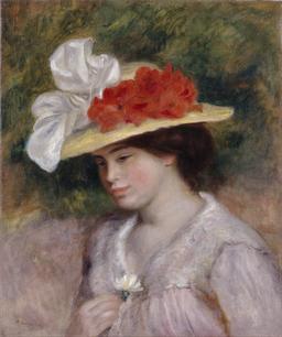 La dame au chapeau fleuri. Source : http://data.abuledu.org/URI/532da5a9-la-dame-au-chapeau-fleuri