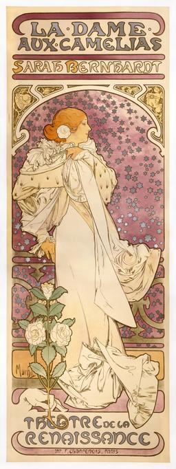La Dame aux Camélias et Sarah Bernhardt en 1896. Source : http://data.abuledu.org/URI/53752e3b-la-dame-aux-camelias-et-sarah-bernhardt-en-1896