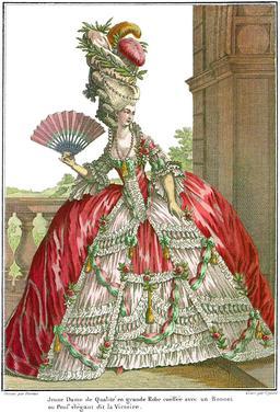 La dame de qualité à l'éventail en 1778. Source : http://data.abuledu.org/URI/57067635-la-dame-de-qualite-a-l-eventail-en-1778