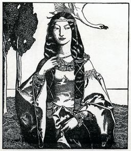 La dame du lac en 1903. Source : http://data.abuledu.org/URI/5950afa3-la-dame-du-lac-en-1903