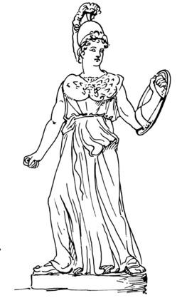 La déesse Athéna. Source : http://data.abuledu.org/URI/53b97be2-la-deesse-athena